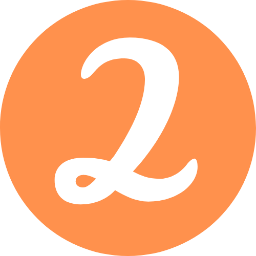 Number 2 Orange Icon